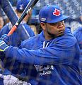 Edwin Encarnacion takes batting practice before the AL Wild Card Game. (29523831204).jpg