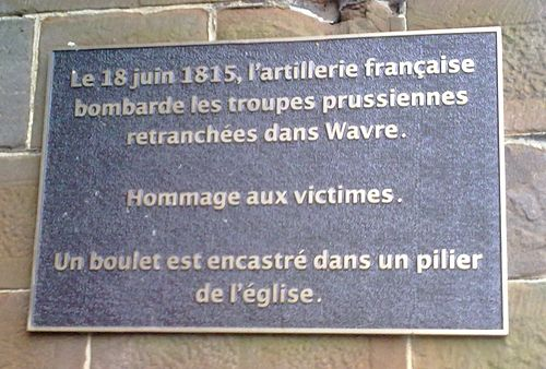 Plaque at the St. John-the-Baptist church, Wavre Eglise St Jean Wavre.jpg