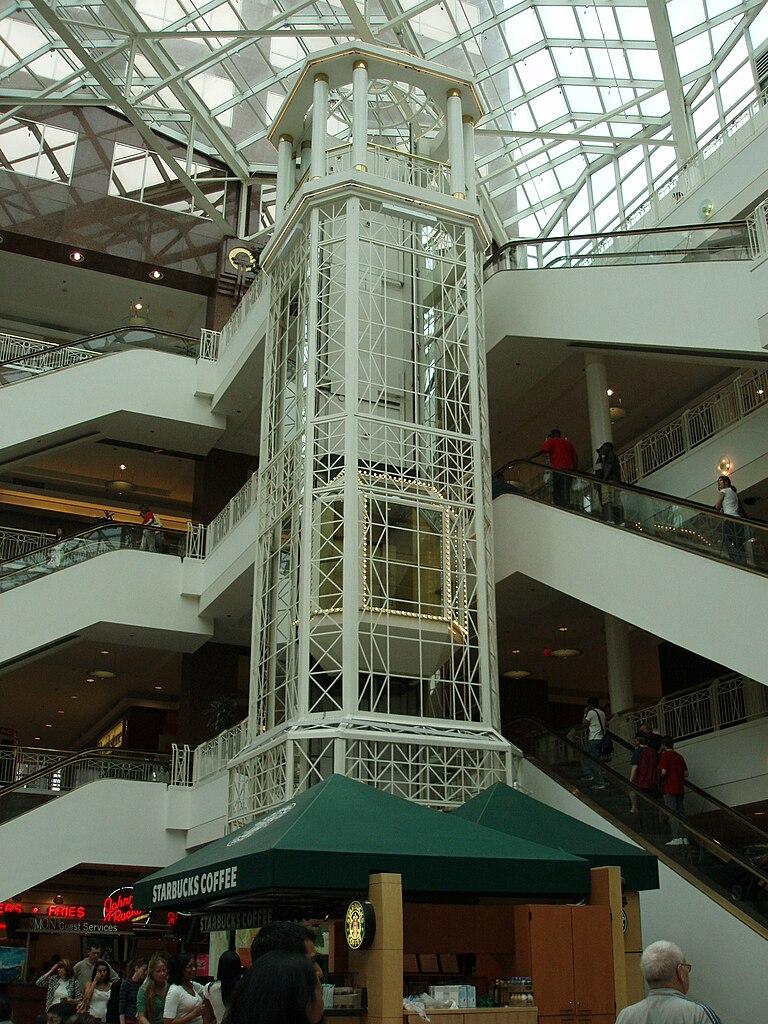 file elevator at pentagon city mall jpg