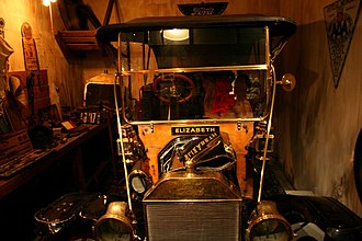 Royal British Columbia Museum - Recreation of an early 20th century garage in the modern history gallery.