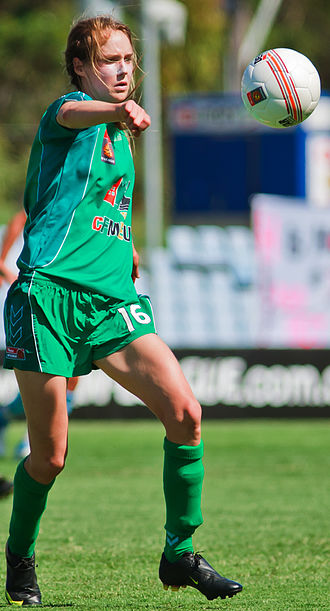 Ellyse Perry - Perry playing for Canberra United in 2009