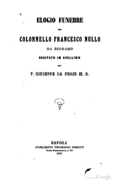 File:Elogio funebre del colonnello Francesco Nullo.djvu
