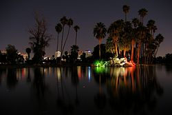 Encanto Park at night