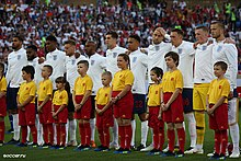 00f5aa7cf The England line-up before the last match of group G against Belgium