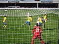 England women v Sweden 3 8 2014 17.JPG