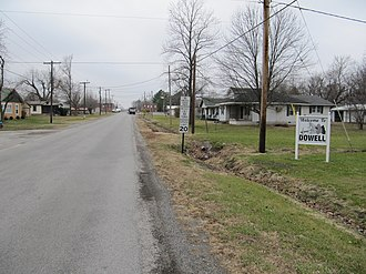 Dowell, Illinois - Entering Dowell