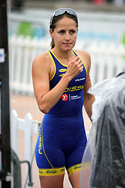 Erin Densham beim Grand Prix de Triathlon in Paris, 2011