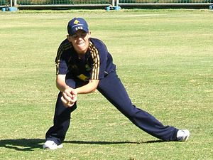 Erin Osborne - Osborne taking a catch at training