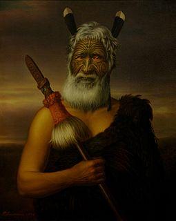 Eruera Maihi Patuone Maori chief and leader, Nga Puhi, peacemaker, trader, government adviser