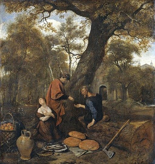 Erysichthon verkoopt zijn dochter Mestra Rijksmuseum SK-A-2572