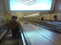 Escalator at Angel Underground Station
