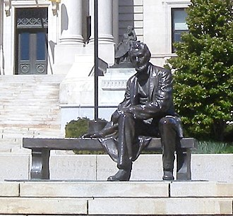 Seated Lincoln (Borglum) - Image: Essex Co Court Seated Lincoln jeh
