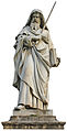 Estatue of Saint Paul in the front outside of Basilica-Roma-ret.jpg