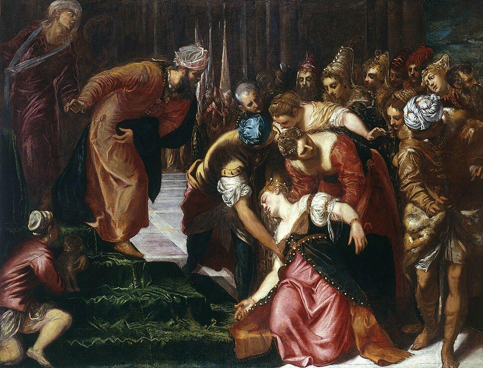 Esther before Ahasuerus (1547-48); Tintoretto, Jacopo