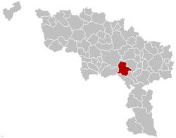 Estinnes Hainaut Belgium Map.png