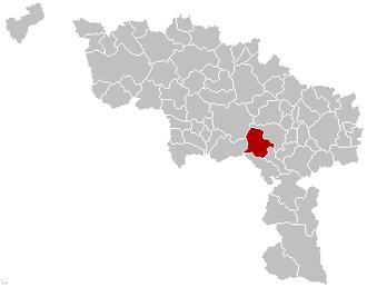 Estinnes - Image: Estinnes Hainaut Belgium Map