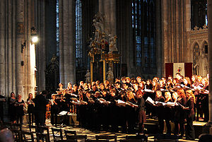 Edinburgh University Music Society - EUMS performing in Amiens Cathedral whilst on tour in France.