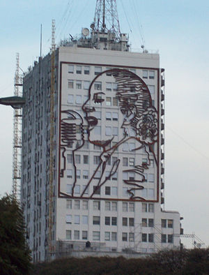 Cultural depictions of Eva Perón - Image of Eva Perón at the Ministry of Work.