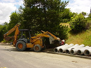 Backhoe loader - Image: Excavator Loader 3654