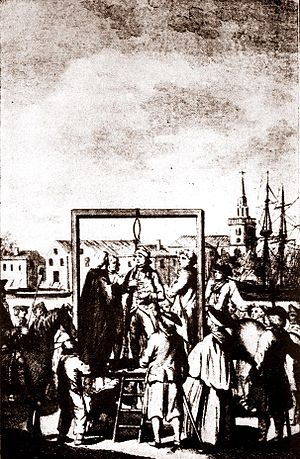 Execution Dock - Hanging of a buccaneer at Execution Dock.