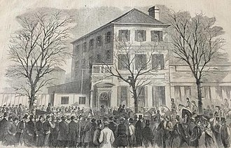 Star of the West - Word of the Star of the West incident was received by Gov. Pickens at his temporary executive headquarters at 107 (now 155) Meeting Street.