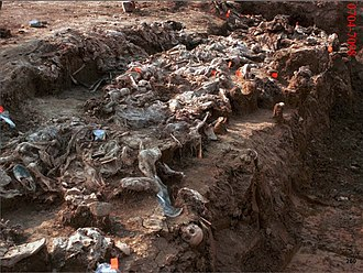 Bosnian genocide - Exhumation of the Srebrenica massacre victims