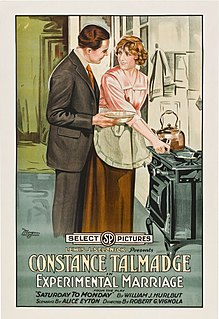 <i>Experimental Marriage</i> 1919 American silent romantic comedy film directed by Robert G. Vignola