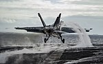 FA-18E Super Hornet launches from the USS Dwight D. Eisenhower.jpg