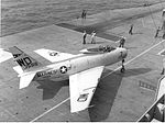 FJ-4B of VMA-212 on USS Oriskany (CVA-34) 1960.jpg
