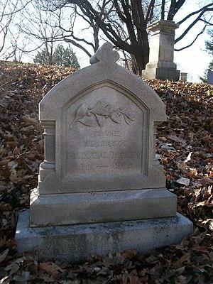 F. O. C. Darley - Grave of F. O. C. Darley at Mount Auburn Cemetery in Cambridge, Massachusetts