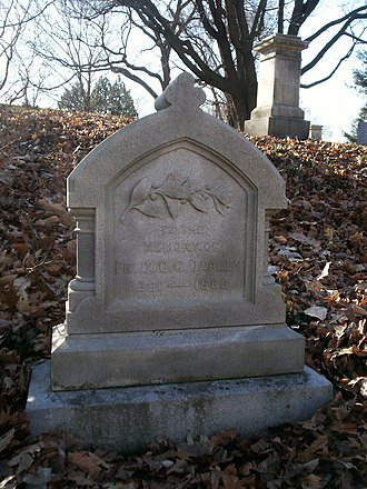 F. O. C. Darley - Grave of F. O. C. Darley at Mount Auburn Cemetery in Cambridge, Massachusetts
