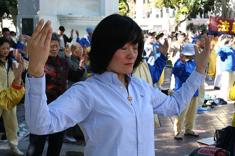 File:Falun Dafa second exercise, standing meditation3.jpg