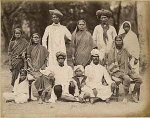Family Photo of a Maharatta Family from Bombay (Mumbai) by the Taurines Studio - 1880's.jpg