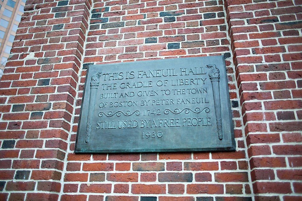 Faneuil Hall sign, Boston, Mass