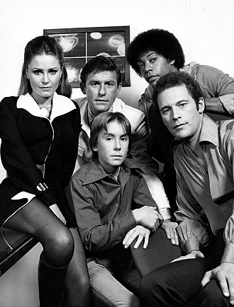 Carl Franklin - Cast of TV's The Fantastic Journey. Back row, L-R: Katie Saylor, Roddy McDowall, Carl Franklin. Front: Ike Eisenmann and Jared Martin
