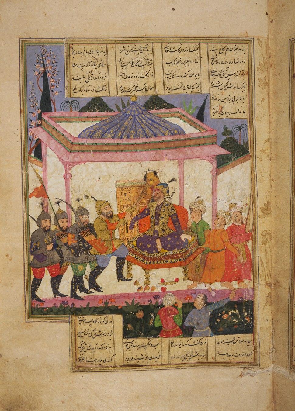 Faridun defeats Zahhak