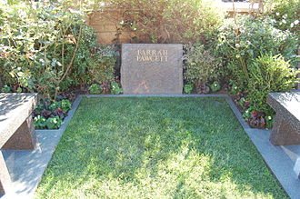 Farrah Fawcett - Fawcett's grave