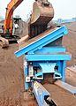 Feed hopper and feed conveyor of M2500 (6324879167).jpg