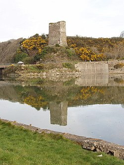 Ferrycarrig Castle on the northern bank of the Slaney