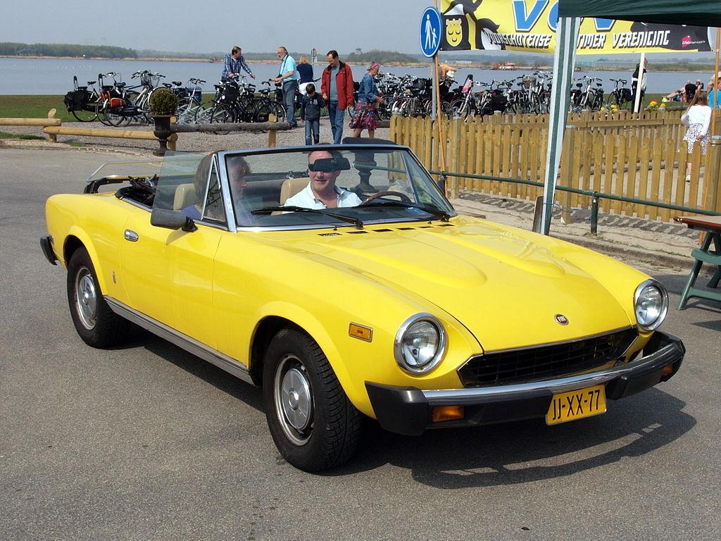 Px Fiat Spider Usa C Dutch Licence Registration Jj Xx