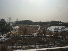 Fields between Jinzhai and Lu'an - seen from Hewu Railway - P1050210.JPG