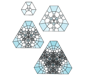 Subdivisions of the subdivision complex for the Borromean rings complement.