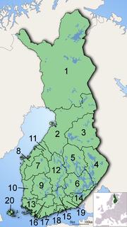 Regiones de Finlandia