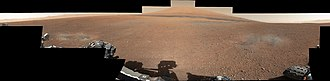 2012 in the United States - Image: First 360 color panorama from the Curosity rover