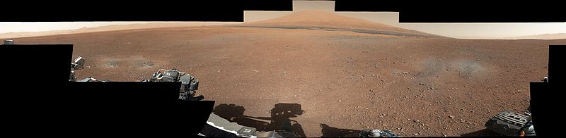 Curiosity's first 360 degrees color panorama image (August 8, 2012).[۱۹][۲۰]