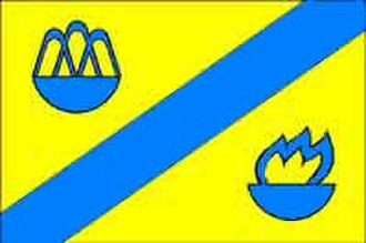 Lysiatychi - Image: Flag of Stryiskyi Raion