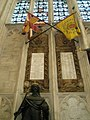 Flags on the west wall at Winchester Cathedral - geograph.org.uk - 1162391.jpg