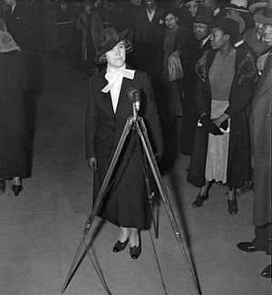 Hallie Flanagan - Flanagan at the opening of Macbeth (April 14, 1936)
