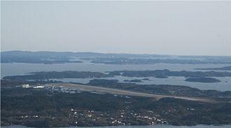 Bergen Airport, Flesland - Aerial view of Flesland