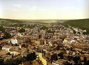 Spa town - Print of Spa, Belgium, 1895